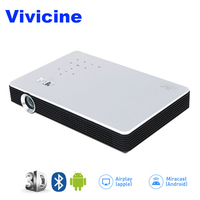 Vivicine M1 3D Full HD Проектор для домашнего кинотеатра, ручной умный HDMI USB VGA PC видеоигры кино Proyector Miracast Airplay