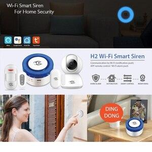 Image 2 - WiFi kablosuz Siren ev güvenlik WiFi Alarm akıllı Siren Tuya ile uyumlu Alexa/Google ev