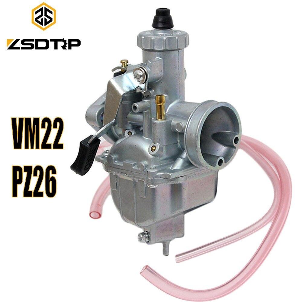 ZSDTRP Mikuni carburador VM22 26mm 110cc 125cc pozo de la bici de la suciedad ATV Quad PZ26 rendimiento carburador parte
