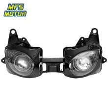 цена на For 07-08 Kawasaki Ninja ZX6R ZX636 Motorcycle Front Headlight Head Light Lamp Headlamp Assembly 2007 2008