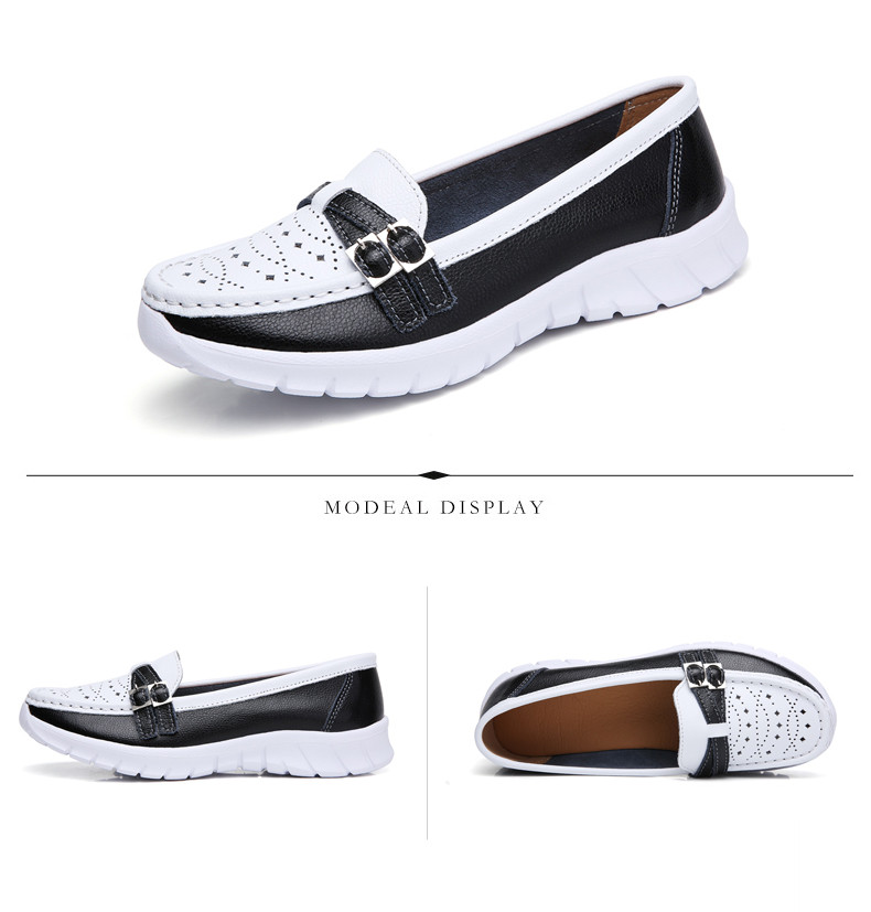 Spring Women Shoes Genuine Leather Handmade Flats Casual Shoes Woman Slip-on Loafers Ballet Flats Ladies Shoes Slipony (8)