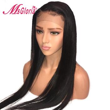 13*4 brazylijski koronki przodu włosów ludzkich peruki dla kobiet Remy przedłużanie włosów proste włosy ludzkie peruki z dziecięcymi włosami bielone węzłów tanie i dobre opinie Średnia wielkość Wszystkie kolory Swiss koronki Średni brąz Straight wig msgloria
