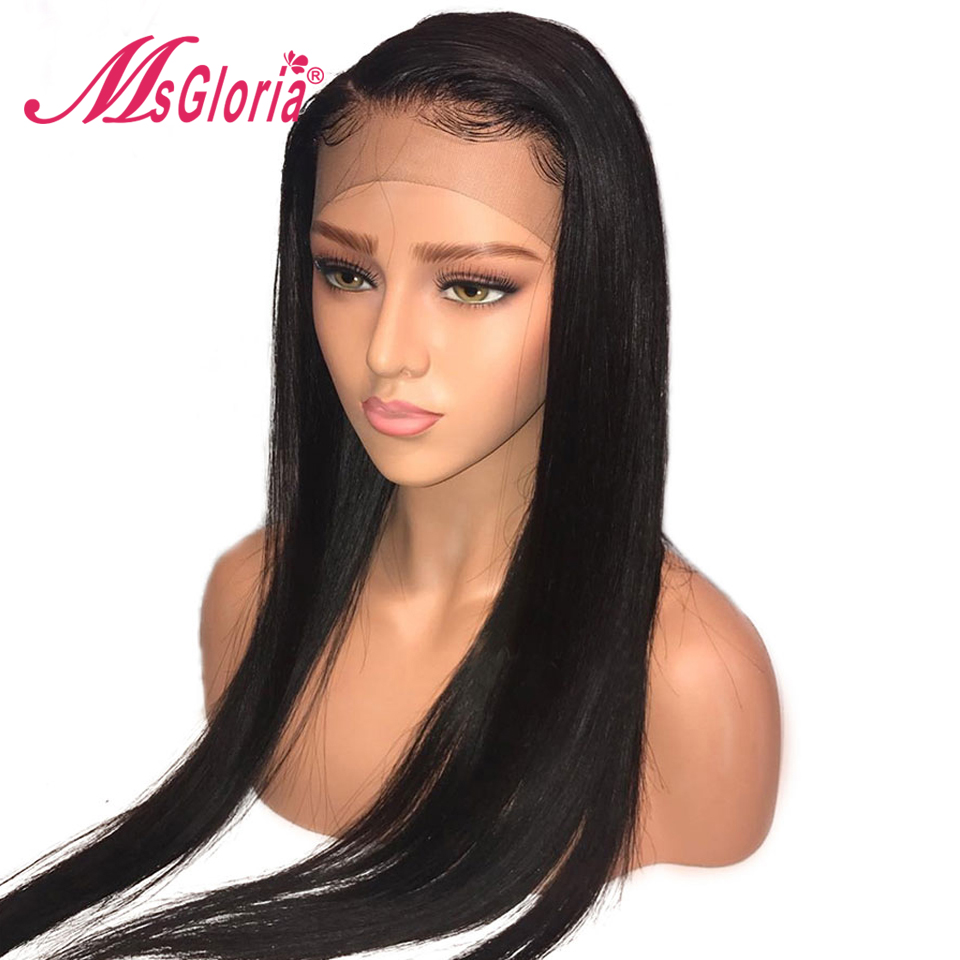 13*4 Brazilian Lace Front Human Hair Wigs For Women Remy Hair Extension Straight Human Hair Wigs With Baby Hair Bleached Knots
