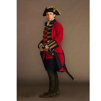 Adult's Costume Cosplay Medieval Style Uniform Costume Outlander Jonathan Randall Outfit Cosplay for Carnival Party