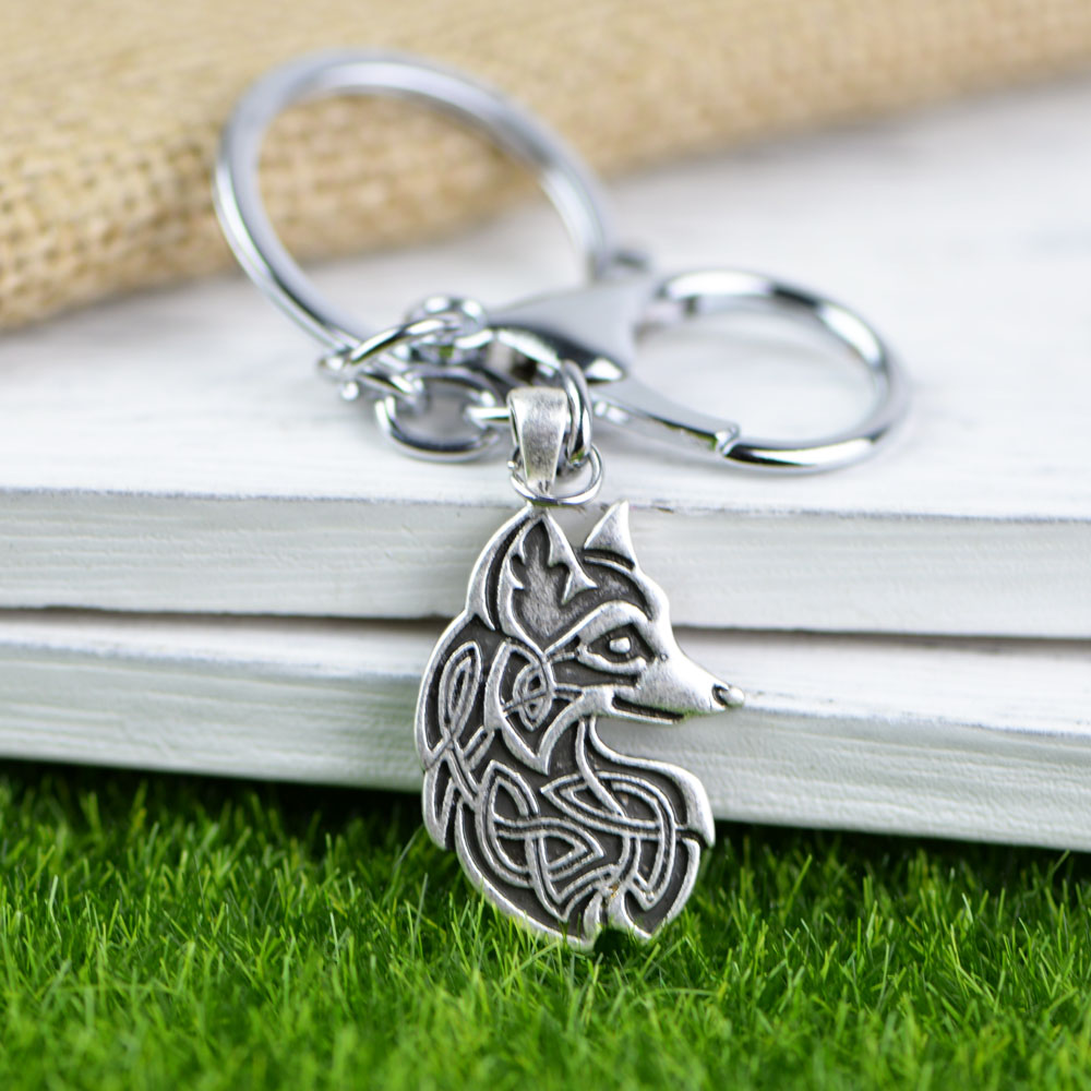 Viking Warrior KeyRing Hand Crafted Pewter Key Ring in pouch Gift Idea