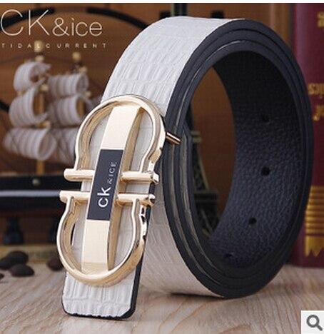 5ddf18a719c Genuine Leather Brand Belts For Men Luxury Designer GG Belt Brass Buckle  Man Strap Cinto Masculino Mens Ceinture MBT0234-in Men s Belts from Apparel  ...
