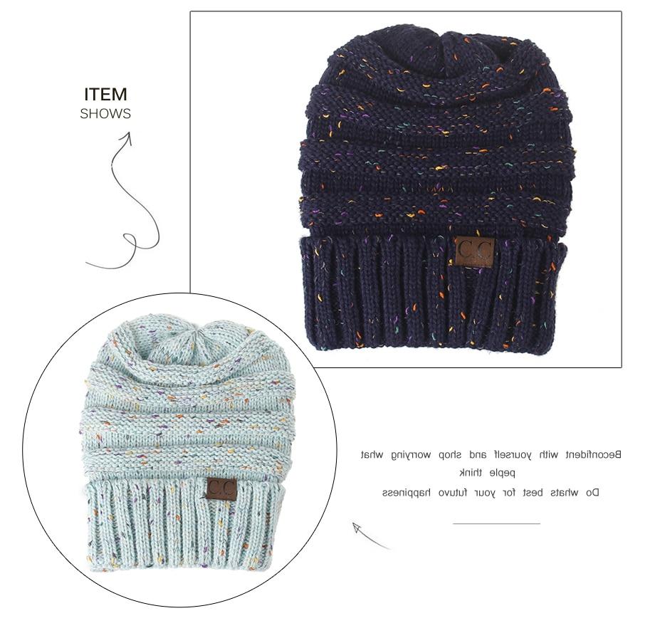 Aliexpress.com: Comprar Moda CC gorros mezcla de colores Crochet ...
