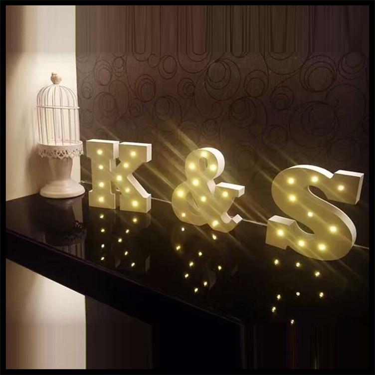 carta led luz amarilla de madera letras decoracin del sitio del beb para nias regalo