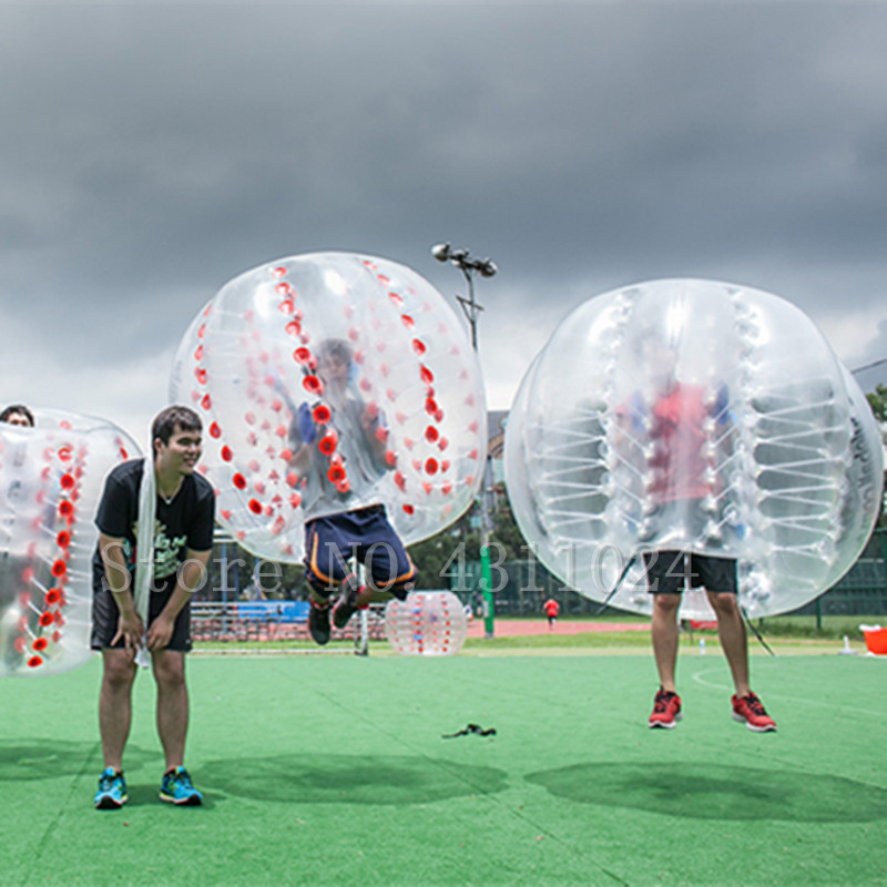 Livraison Gratuite Air Bulle Football 0.8mm PVC 1.5 m Gonflable Zorb Ball, Bulle Ballon De Football, bulle Costume, Boule Loufoque, Boule De Butoir