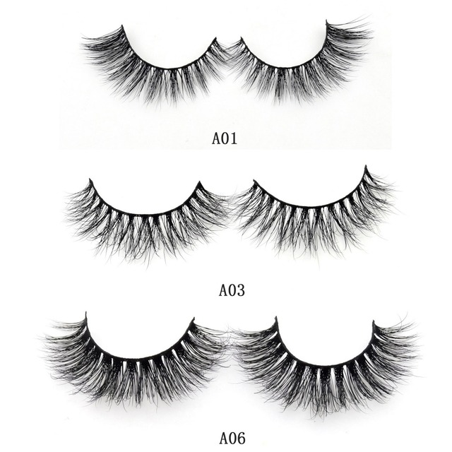 Visofree Mink Lashes 3D Mink False Eyelashes Long Lasting Lashes Natural & Lightweight Mink Eyelashes 1 pair Glitter Packaging 1