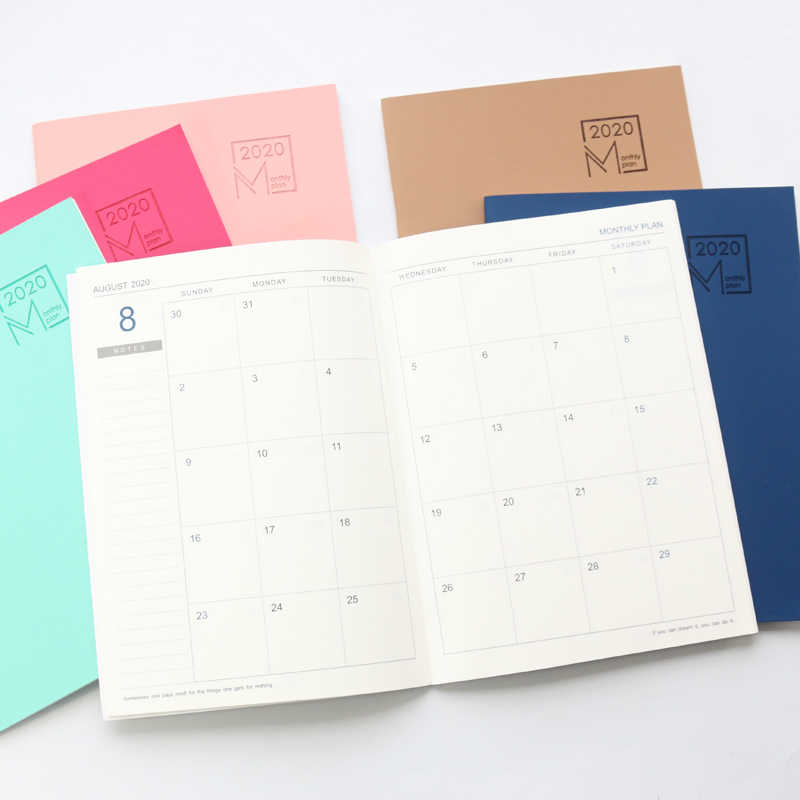 2020 2021 Year Calendar Business Office Monthly Planner Notebooks