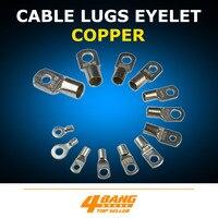 เชื่อมยานยนต์สายทองแดง Lugs แหวนแบตเตอรี่ Connector Wire Gauge หลายขนาด