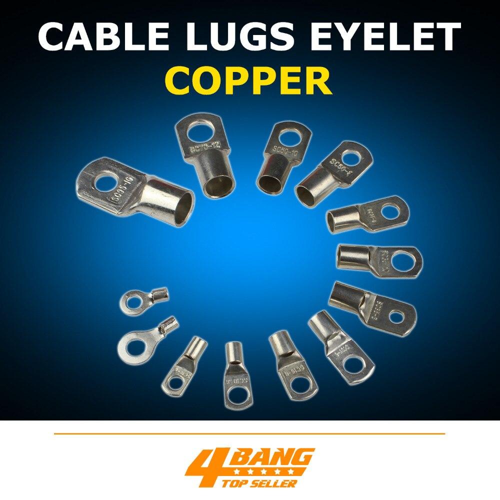 Soudage Automobile Cosses De Câble En Cuivre Anneau Connecteur de Borne de Batterie Fil Jauge Plusieurs tailles