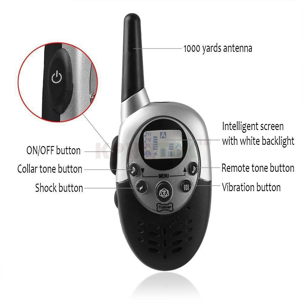 Dog-Training-collar-with-Remote-100-waterproof-Rechargeable-Electronic-Shock-Training-Anti-Bark-E-Collar-1100yd