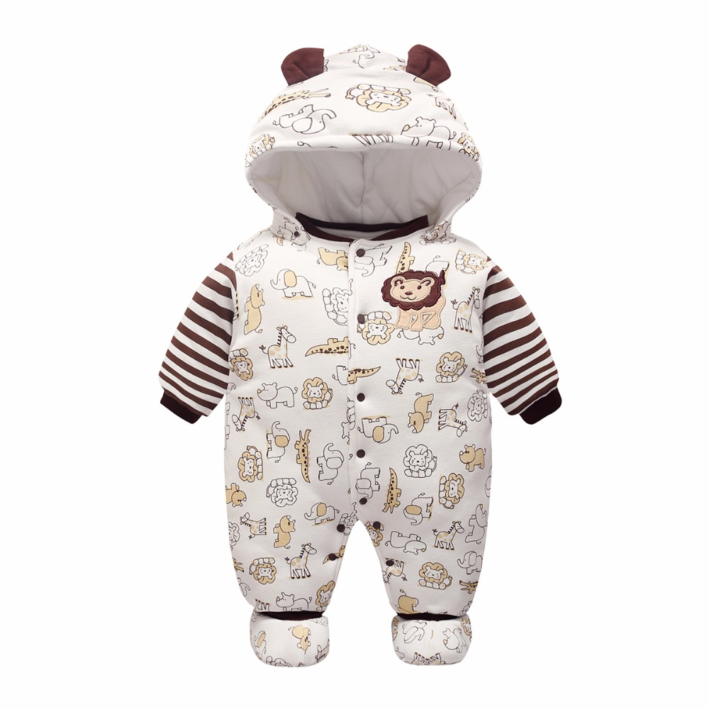 Cotton Baby Rompers Winter Thick Boys Clothes Costume Girls Warm Infant Snowsuit Kid Jumpsuit Children Outerwear Baby Wear 0-12M