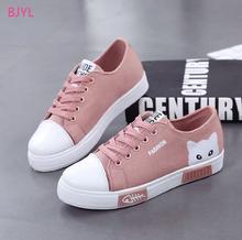 c6d04a4e7d BJYL 2018 novos sapatos femininos sapatas de lona estudantes do ensino  médio júnior estudante do ensino
