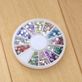 Hotsale Girls DIY Round Resin Nail Art Wheel Glitter Rhinestones Nail Decoration Manicure Supplies Nail Slices