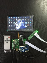 Big discount 1024*600 IPS Screen Display LCD TFT Monitor touch screen with Remote Driver Control Board 2AV HDMI VGA for Raspberry Pi