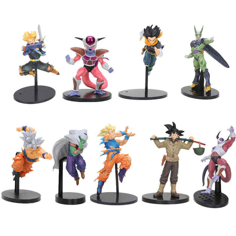 20cm BWFC troncos de Dragon Ball Son Goku Super Saiyan 3 ultra instinto Célula freeza Piccolo Figura de Ação DO PVC Brinquedos dragon Ball Z