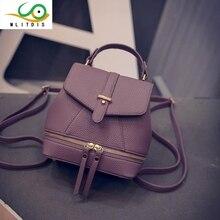 Mlitdis малый кожаный рюкзак женская сумка элегантный дизайн рюкзак для девочек школьные сумки молния плечо женская Back Pack женские кожаные