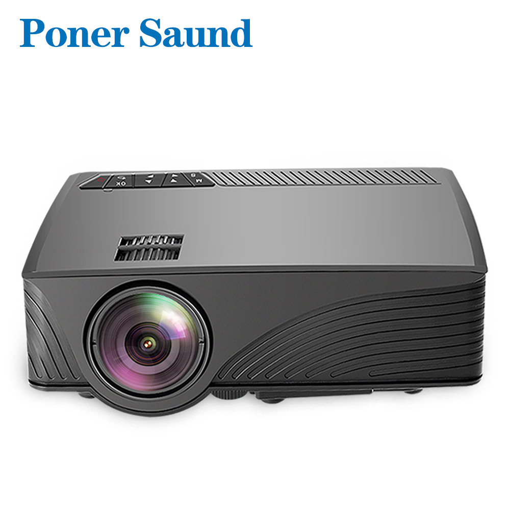 Poner Saund LCD GP12 LED Mini Projector for Home Theater Support Full HD 1080P HDMI USB SD & 3.5mm Earphone LED Video Proyector poner saund dlp n1 mini portable projector battery 15000mah android wifi full 3d bluetooth home theater hd 1080p hdmi usb sd