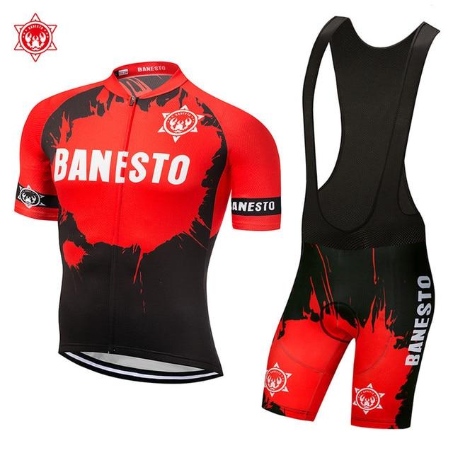 2018 New summer biker kit Banesto cycling rock racing cycling outfits 9D GEL a230bb177