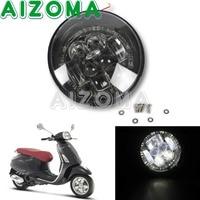 Black Scooter LED Waterproof Position Headlight Kit Aluminum 12w Daytime Running Light For Vespa Primavera 50/150 Easy Install