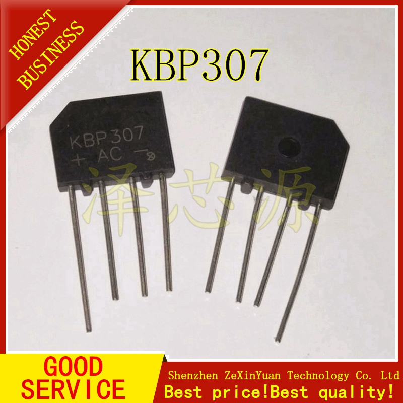 10PCS/LOT KBP307 3A 700V Diode Bridge Rectifier
