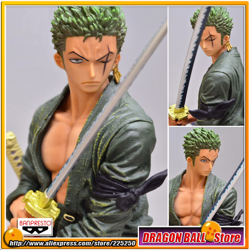 Japan Anime One Piece Original BANPRESTO Creator x Creator PVC Toy Figure - Roronoa.Zoro Normal Color Ver. japan anime one piece original banpresto creator x creator pvc collection figure dracule mihawk