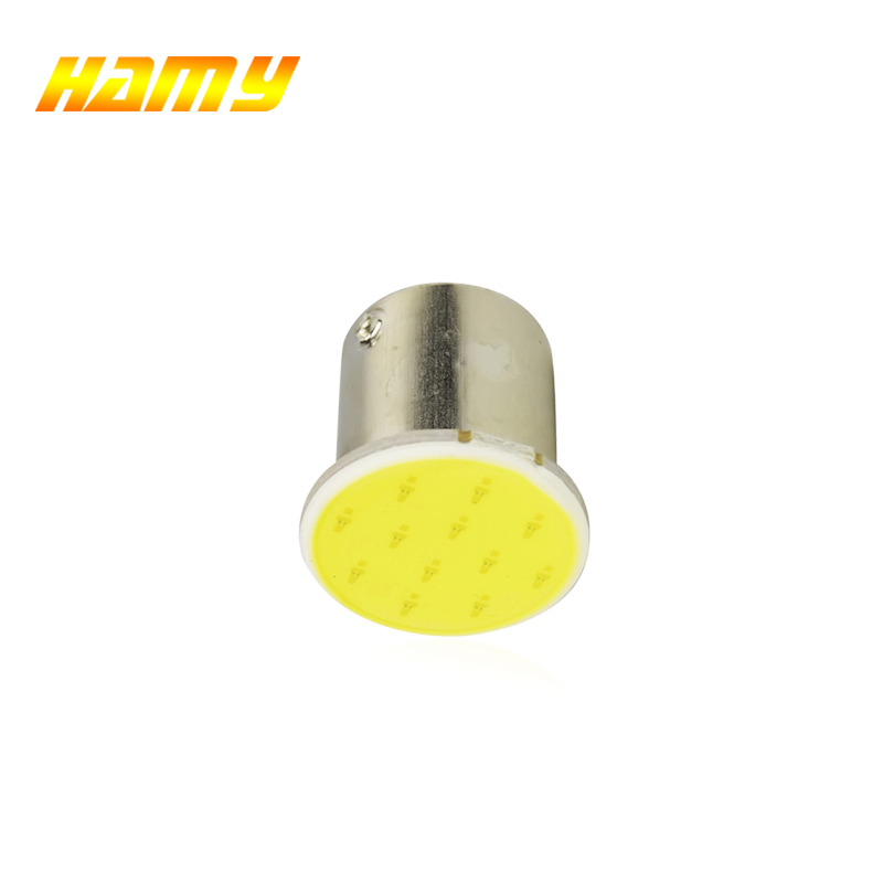 1x P21W 1157 Bay15d 1156 BA15S P21W LED Turn Signal Bulb COB Car Interior Light Parking Reverse Back Brake Lamp Super Bright 12V