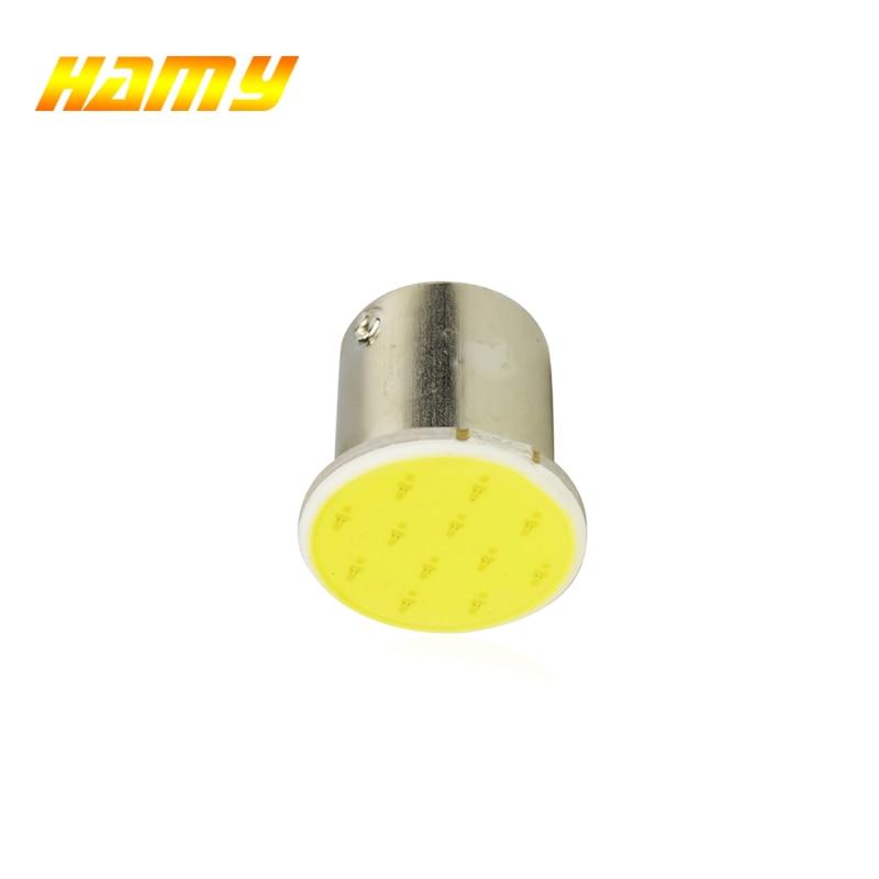 1x P21W 1157 Bay15d 1156 BA15S P21W светодиодный указатель поворота, COB автомобильный светильник для салона, стояночный задний стоп-сигнал, супер яркий 12 В