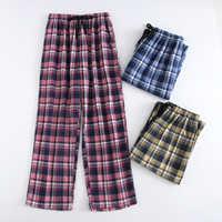 Plus Größe Baumwolle Plaid Männer Schlaf Bottoms Komfort Pyjama Einfache Lose Nachtwäsche Hosen Pijamas Männlichen Sheer Pyjama Hosen Homewear
