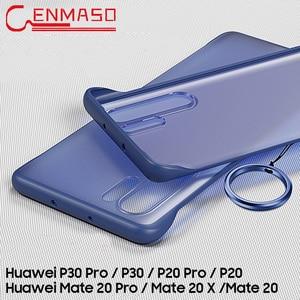 Image 2 - P30 Pro étui pour Huawei P30 P20 Lite 2019 mate 10 20 x couverture arrière pour Honor 8X 9X V20 20 pro P smart plus 2019 étui sans cadre