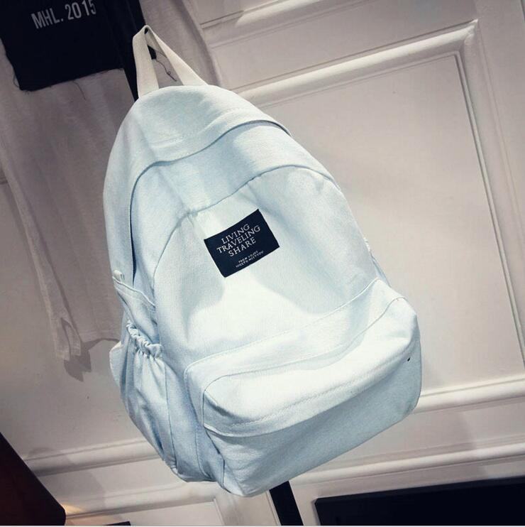 2016 Women s Denim Backpack Schoolbag Women s Teenage Girl Backpack Big Travel Backpack bolsa Schoolbag