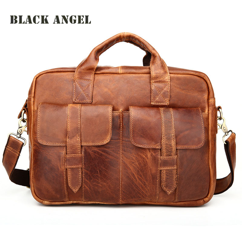Retro Genuine Leather men bags first layer cowhide leather shoulder briefcase bag fashion men's leather crossbody bags 2016 new fashion men s messenger bags 100% genuine leather shoulder bags famous brand first layer cowhide crossbody bags
