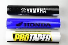 New 7/8 Handlebars Crossbar Bar Pad Molded 8 Round Handlebar Motocross Motorcycle Quad ATV CRF DTR PIT BIKE 225mm