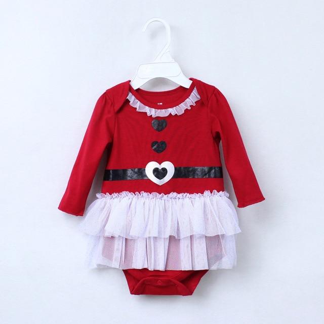 fdb2535d1 Baby Body para Niños Niñas Recién Nacidos Mi primera Navidad Disfraces Tul  Vestido Rojo de Algodón