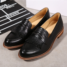 Yinzo Women Flats Oxford Shoes Woman Genuine Leather Sneakers Ladies Brogues Vintage Casual Shoes Shoes For lady Footwear 2020