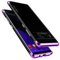 Nota galáxia 8 De Luxo Originais de Alumínio Armação de Metal + PC Duro armadura Anti-knock Back Cover Case Para Samsung Galaxy Note 8 Coque