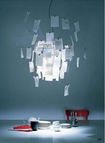 Luminaire pour salle d'étude lampes suspendues 120 cm moderne Contempoary Zettel lampe suspendue lampe en papier éclairage lampes suspendues