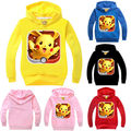 New Pokemon GO Hoodies Kid Baby Boys Girls Long Sleeve Hooded Sweatshirt Pokemon GO Baby Clothes 2-7Y Pink Yellow Red Blue Black