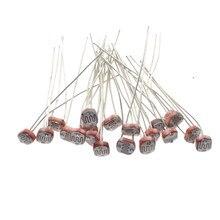 20 шт. x 5528 светильник, зависимый резистор LDR 5 мм Фоторезистор оптом и в розницу, фотопроводящее сопротивление для arduino