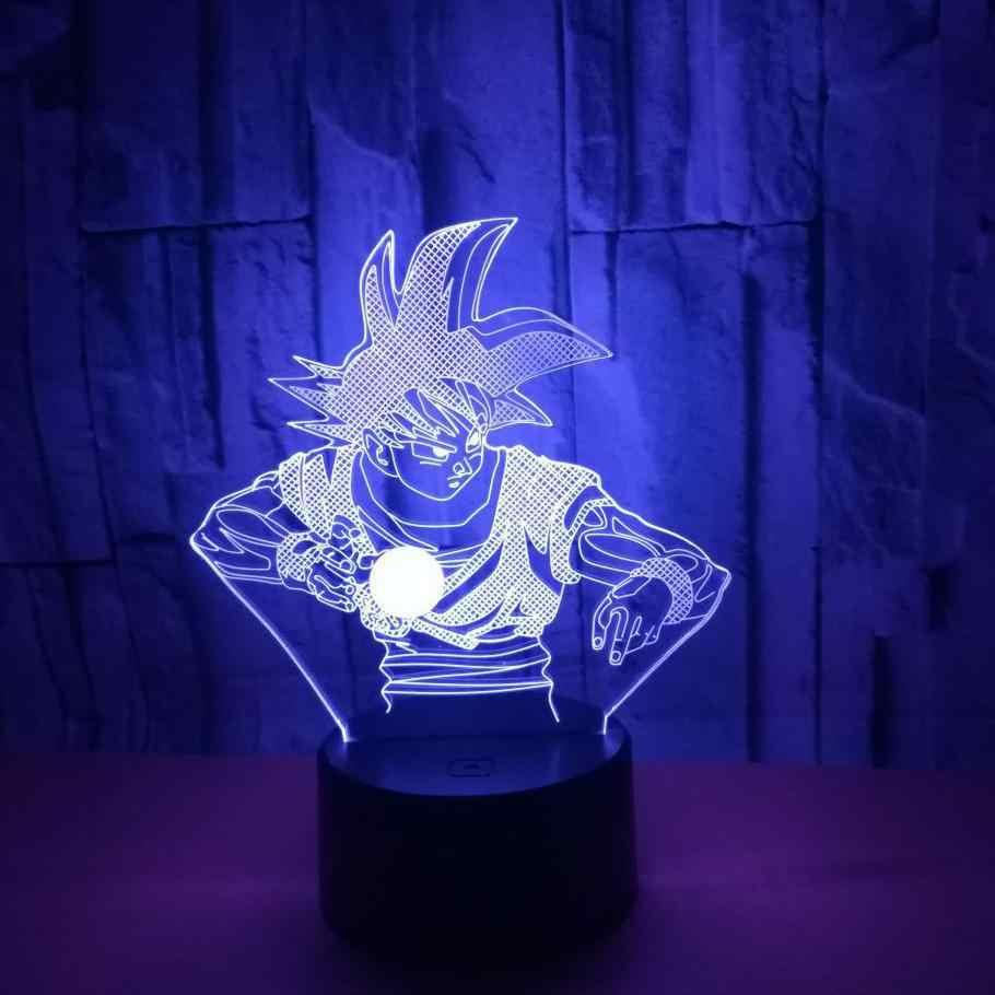Семь Dragon Ball 3d Красочные Night настольная лампа подарок на день детей прикроватная сенсорный творческий 3d небольшой настольная лампа Спальня лампа