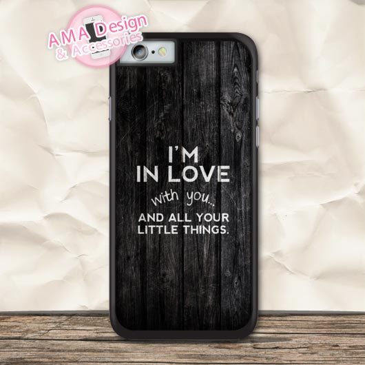 I Am In Lover With You 1D Quote Protective Case For iPhone X 8 7 6 6s Plus 5 5s SE 5c 4 4s For iPod Touch