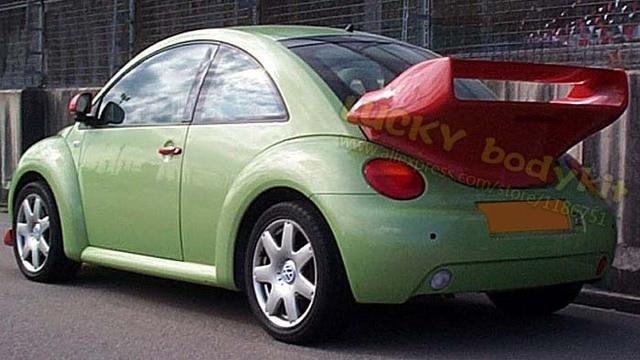 beetle frp unpainted gt style car rear spoilercar trunk spoiler  beetle  spoilers