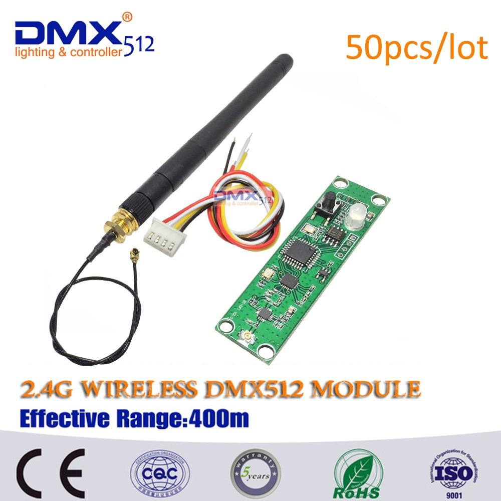DHL Free Shipping Wireless DMX Receiver Transmitter / Wireless DMX512 Transmitter Receiver LED Lighting 2.4G Wireless Dmx512 PCB