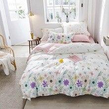 2019 Svetanya Colorful Flowers Bedding Sets US Twin Queen Size Cotton Bedlinens Duvet Cover Set Bedsheet Pillow Cases