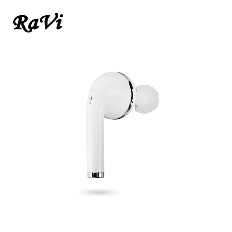 RAVI MINI Bluetooth Earphone For For iPhone 6 7S Airpods Earbuds Sport Wireless In-Ear Headset For Apple EarPods fone de ouvido cinkeypro mini bluetooth headset 4 1 wireless invisible sport earphone car ear earbuds for iphone 7 6 computer universal