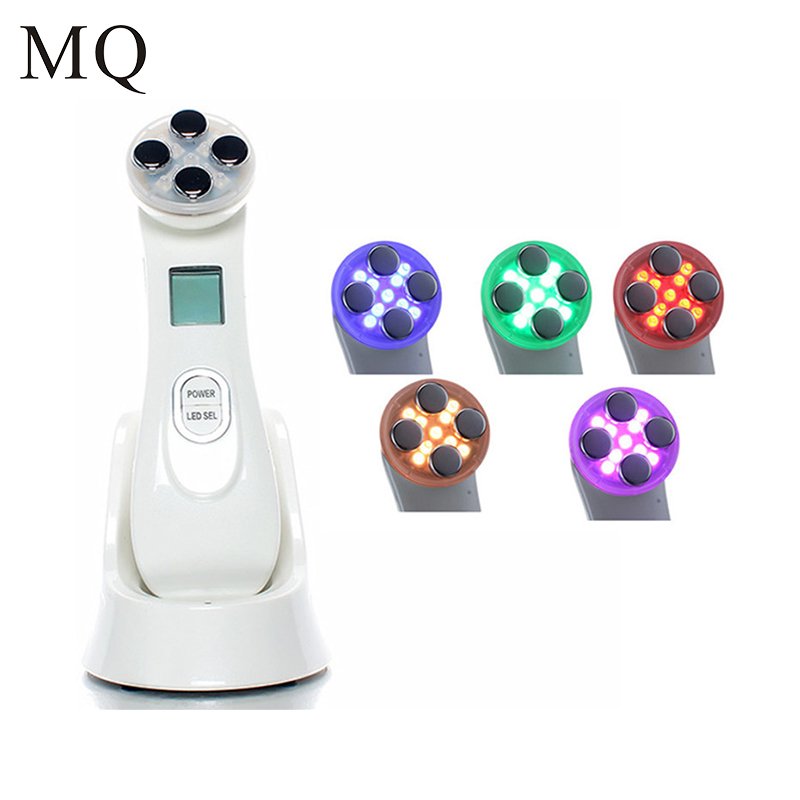 Skin Care EMS Mesotherapy Beauty Device Facial Electroporation RF Radio Frequency LED Photon Skin Rejuvenation Tighten Machine kingdom kd 9900 ems rf electroporation beauty device