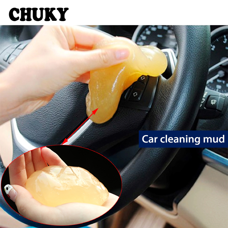 CHUKY Car Styling Magic Dust Cleaning Compound Slimy Gel For Volkswagen VW Golf 4 <font><b>5</b></font> 7 6 MK4 Honda Civic 2006-2011 Accord 2003 image